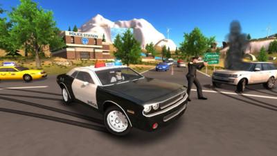 警车驶离公路 APP截图