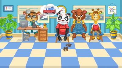 儿童游戏动物医生 APP截图