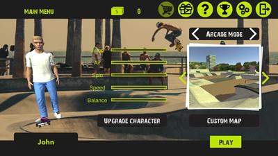 自由滑板3D APP截图