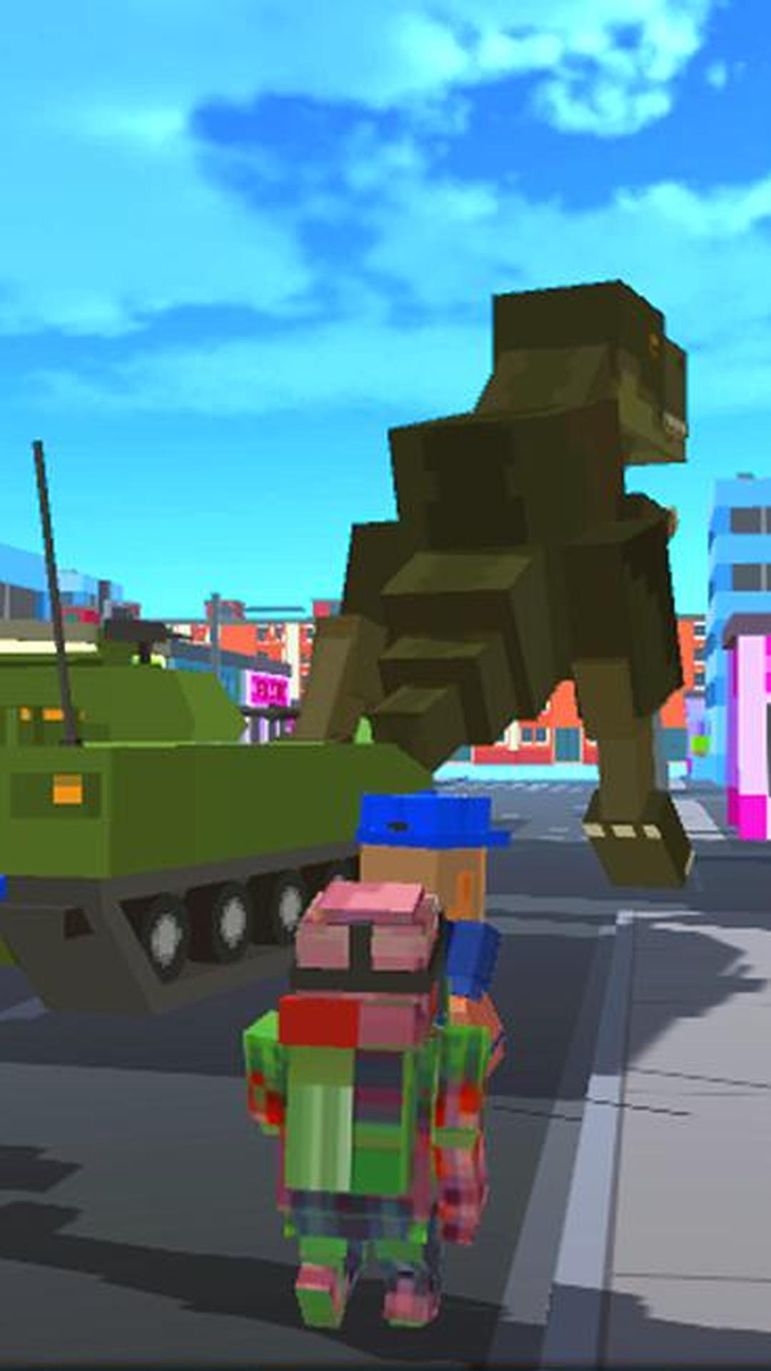 像素恐龙:城市破坏 APP截图
