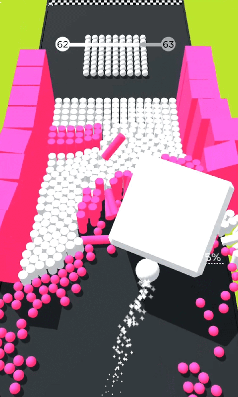 彩色躲避球球3D APP截图