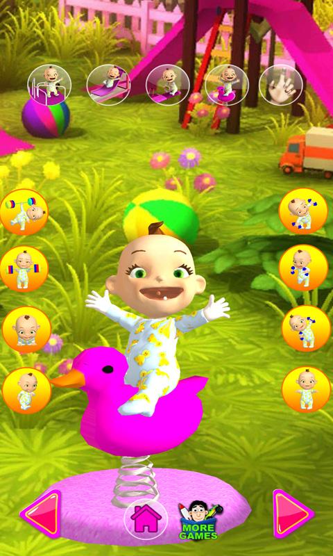 甜心公主照顾小宝宝-开心巴士游戏 APP截图