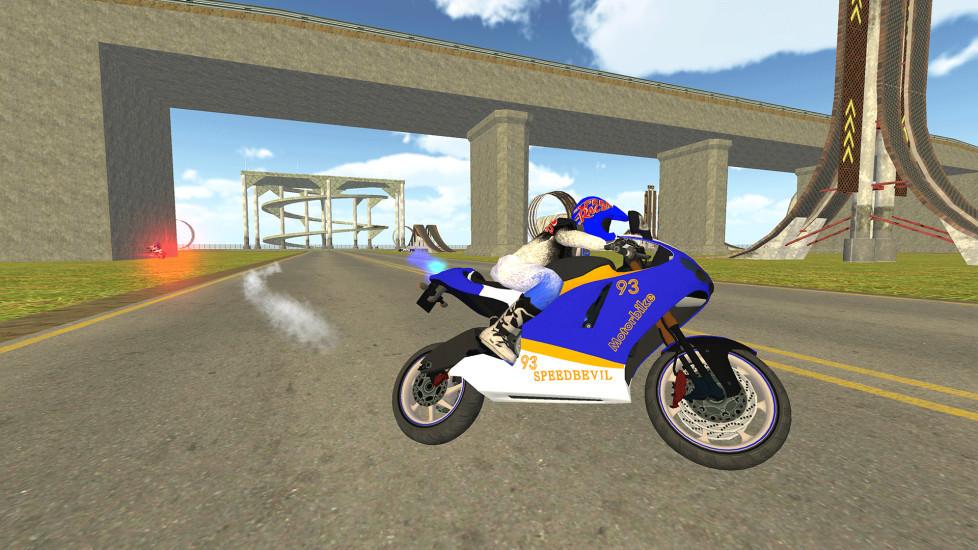 摩托车车手与警车追逐模拟器 APP截图