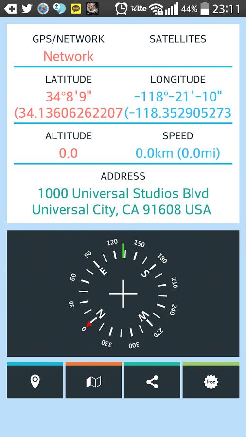 GPS状态显示 APP截图