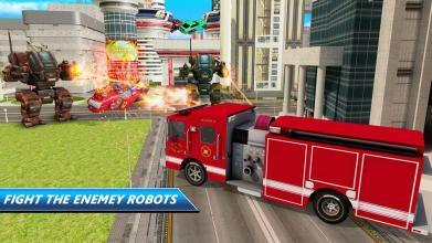 机器人 消防队员 卡车 拯救 市 战争 APP截图