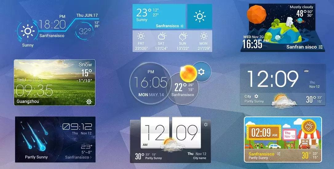 Pixel Style Clock Weather APP截图