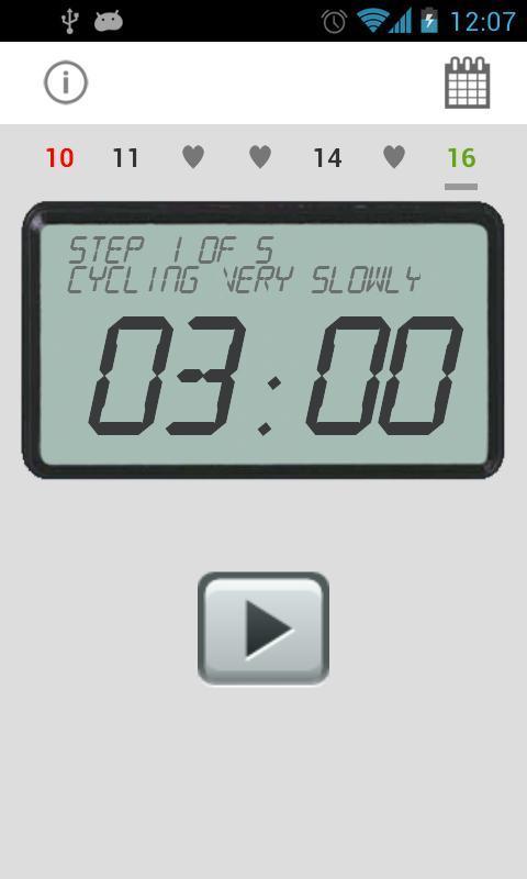 Exercise Bike Training Tracker APP截图