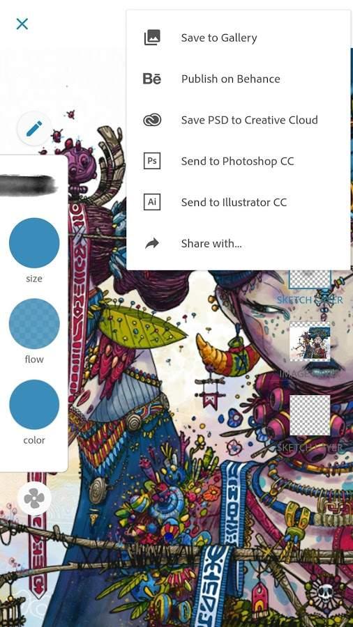 Adobe Photoshop Sketch APP截图