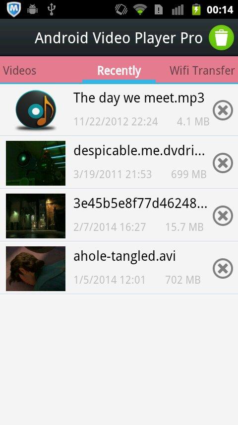 Android视频播放器的临 APP截图