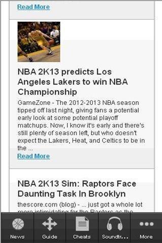 NBA 2K13 Fans App APP截图