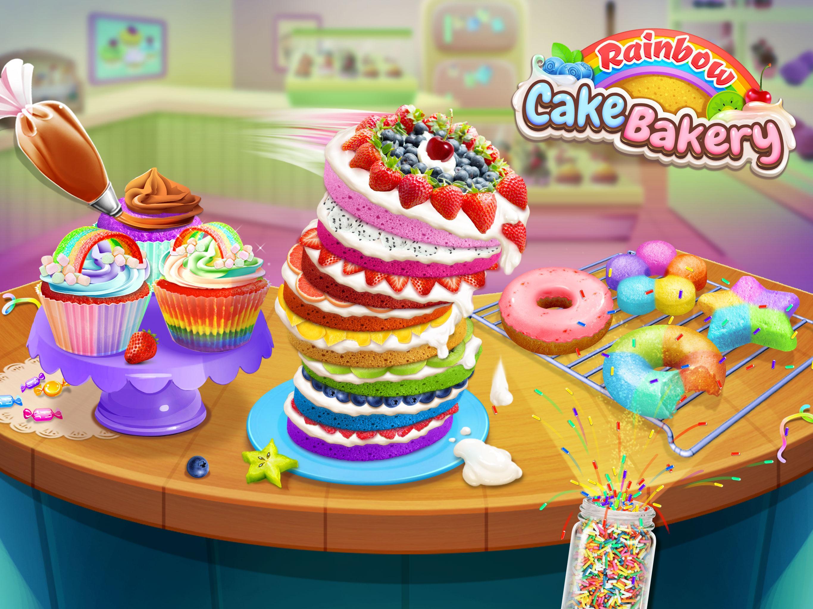 彩虹蛋糕店—甜点大厨! APP截图
