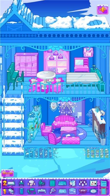 冰雪公主娃娃屋布置 APP截图