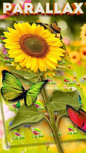 華麗的蝴蝶視差主題 APP截图