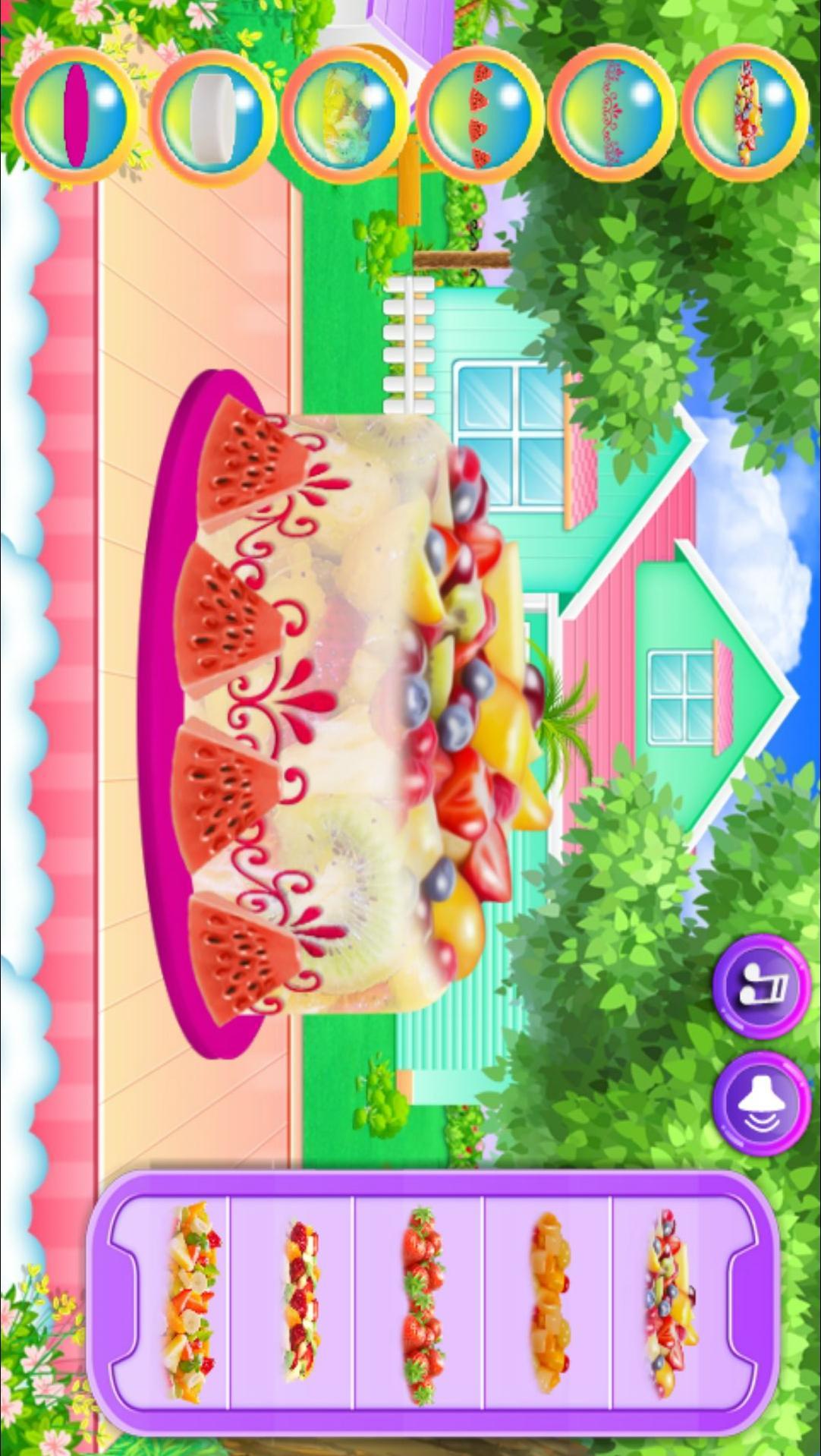 水果冰淇淋蛋糕烹饪 APP截图