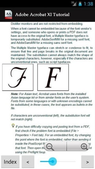 Adobe Acrobat XI Tutorial APP截图